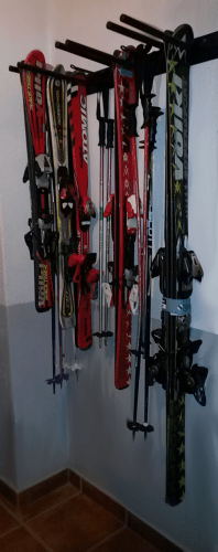 Guarda Esquís 9 pares pared